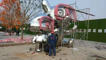四川大型不锈钢雕塑定制