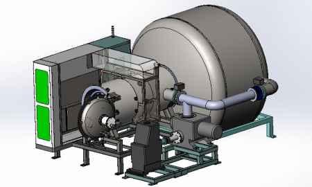 电池材料气相沉积制粉量产真空炉